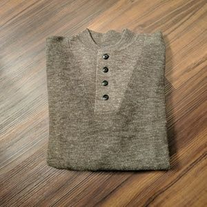 Grayers large olive brown sweater